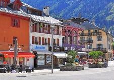 Chamonix city centre, France Royalty Free Stock Photos