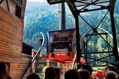 Chamonix elevator Royaltyfria Bilder