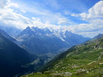 Chamonix en été, Alpes français Images stock