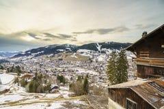 Chamonix en invierno fotografía de archivo libre de regalías