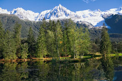 Chamonix - estación de esquí en las montan@as francesas Imagen de archivo libre de regalías