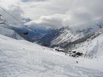 Chamonix in Februari 2014 Stock Afbeeldingen
