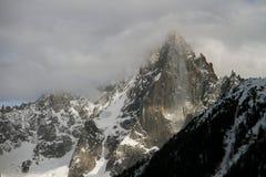 Chamonix in Februari 2014 Stock Fotografie