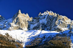 Chamonix in Februari 2014 Stock Afbeelding