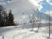 Chamonix in February 2014 Royalty Free Stock Photo