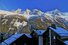 Chamonix in February 2014 Royalty Free Stock Photography
