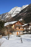 Chamonix in February 2014 Royalty Free Stock Images
