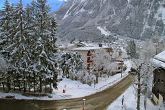Chamonix in February 2014 Stock Photo