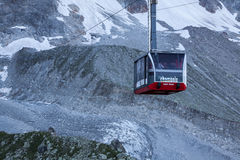 CHAMONIX, FRANCE - AUGUST 2: Cable Car from Chamonix to the summ Stock Image