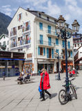 Chamonix, France - construction peinte Image libre de droits