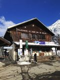 Telecabine Le Tour Col De Balme ski station, Chamonix, France Royalty Free Stock Photography