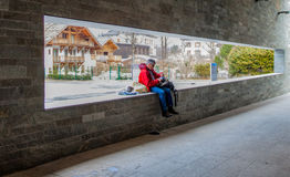 Chamonix, France - Lone Traveler Stock Photography