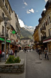 Chamonix, France Street View Royalty Free Stock Photos