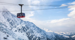 Chamonix, Francia - cabina di funivia Immagini Stock