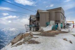 Chamonix, Francia - stazione della gondola Immagine Stock Libera da Diritti