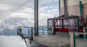 Chamonix, Francia - stazione della gondola Fotografia Stock