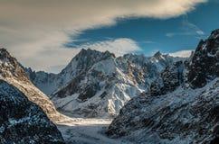 Chamonix Francja lodowiec Obrazy Royalty Free