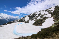 Chamonix High Altitude Lake Lac Blanc Images stock