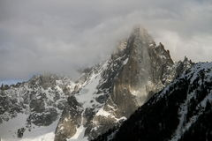 Chamonix im Februar 2014 Stockfotografie