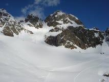 Chamonix im Februar 2014 Stockbild