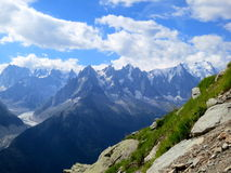 Chamonix im Sommer, französische Alpen Stockbild