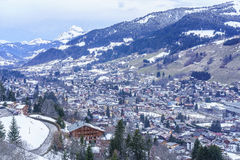 Chamonix in inverno Immagine Stock