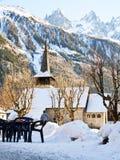 Chamonix-Kirche Lizenzfreies Stockbild