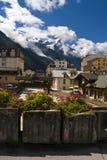 Chamonix landscape / panorama stock photography