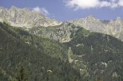 Chamonix le Mont-Blanc Photo stock