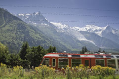 Chamonix Le Mont-Blanc. Views of Mont-Blanc Massif, from Chamonix Stock Photography