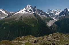 Chamonix Mont Blanc Fotografia Stock Libera da Diritti