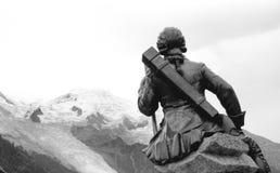 CHAMONIX-MONT-BLANC in alpi francesi Immagine Stock Libera da Diritti