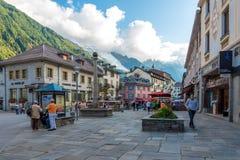 Chamonix-Mont-Blanc in Alvernia-RhÃ'ne-Alpes, Francia Immagini Stock Libere da Diritti