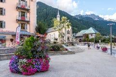 Chamonix-Mont-Blanc, Alvernia-RhÃ'ne-Alpes in Francia Immagini Stock