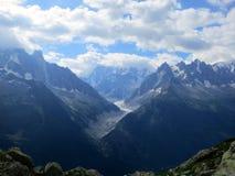 Chamonix-Mont-Blanc di estate, alpi francesi Fotografia Stock Libera da Diritti