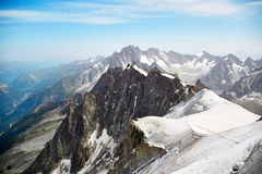 Chamonix Mont Blanc, France. View of Chamonix Mont Blanc Massif, French Alps stock photography