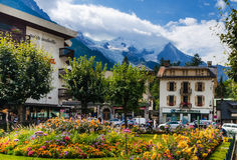 Chamonix-Mont-Blanc, Francia Immagini Stock