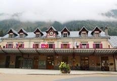 Chamonix Mont Blanc linii kolejowej stacja w Francja Fotografia Royalty Free