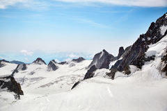 Chamonix-Mont-Blanc Mont Blanc, Francia Immagini Stock Libere da Diritti