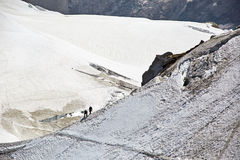 Chamonix-Mont-Blanc Mont Blanc, Francia Fotografia Stock Libera da Diritti