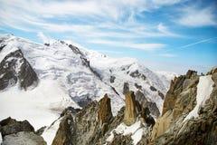 Chamonix-Mont-Blanc Mont Blanc, Francia Immagini Stock