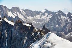 Chamonix-Mont-Blanc Mont Blanc, Francia Fotografie Stock Libere da Diritti