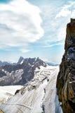 Chamonix-Mont-Blanc Mont Blanc, Francia Fotografie Stock