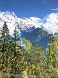 Chamonix-Mont-Blanc - nelle alpi francesi Immagini Stock