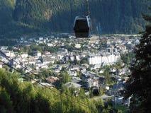 Chamonix Mont Blanc odgórny widok obraz stock