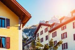 Chamonix Mont Blanc, Skiort in den Alpenbergen, Frankreich stockfoto