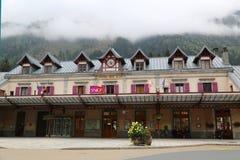 Chamonix Mont Blanc Train Station Foto de archivo libre de regalías