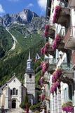 Chamonix Mont Blanc Village Square, France Stock Photos