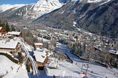 Chamonix no inverno Imagens de Stock
