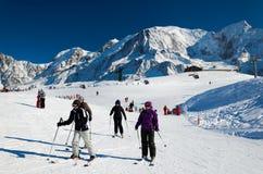 Chamonix ośrodek narciarski Zdjęcia Stock